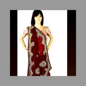 new Style Indian heavy work sari for party.